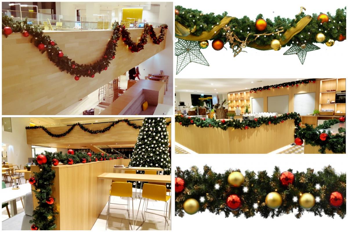 Kerstdecoraties Met Rood : Huur kerstbomen en guirlandes bij lek themadecoraties ook voor